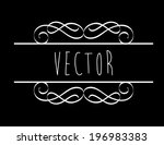 label design over background ... | Shutterstock .eps vector #196983383