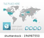 map of the world | Shutterstock .eps vector #196987553
