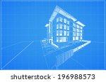 abstract 3d render of building... | Shutterstock .eps vector #196988573