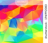 colorful abstract design... | Shutterstock .eps vector #196992083