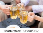 close up of three people...   Shutterstock . vector #197004617