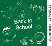 back to school concept. hand... | Shutterstock .eps vector #197005193