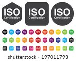 iso certification icon | Shutterstock .eps vector #197011793