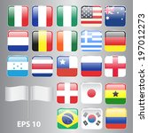 set of square shaped flags... | Shutterstock .eps vector #197012273