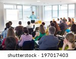 speaker at business convention... | Shutterstock . vector #197017403