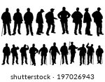 vector silhouette of old people ... | Shutterstock .eps vector #197026943