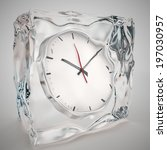 Frozen In Clock  Time Concept