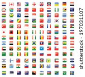 square buttons world flag set | Shutterstock . vector #197031107