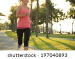 runner athlete running at... | Shutterstock . vector #197040893