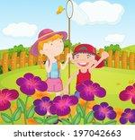 illustration of the kids... | Shutterstock . vector #197042663