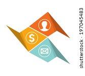 the blank communication... | Shutterstock .eps vector #197045483