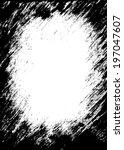 grunge frame grunge background. ... | Shutterstock .eps vector #197047607