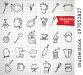 set of food and drinks icons....