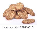 photo of oat crackers | Shutterstock . vector #197066513