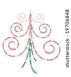 typographic merry christmas... | Shutterstock . vector #19706848