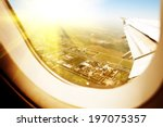 clouds and sky as seen through... | Shutterstock . vector #197075357