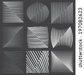 grey vector stripes or... | Shutterstock .eps vector #197082623