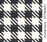 seamless checkered pattern | Shutterstock .eps vector #197083697