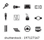 silhouette realistic car parts...   Shutterstock .eps vector #197127167