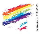 rainbow color grunge brush... | Shutterstock .eps vector #197168333