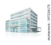 city hospital building in... | Shutterstock .eps vector #197226173
