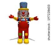 3d rendered clown   Shutterstock . vector #197228603