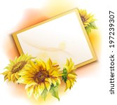Sunflower Frame Background  Oi...