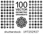 round geometric ornaments set.... | Shutterstock .eps vector #197252927