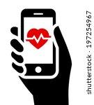 health tools in smartphone | Shutterstock .eps vector #197254967