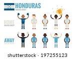 honduras soccer team flat icons