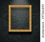 illustration picture frame on... | Shutterstock .eps vector #197261693
