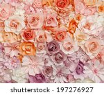 colorful flowers paper... | Shutterstock . vector #197276927