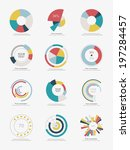 set of info graphic pie charts | Shutterstock .eps vector #197284457