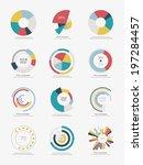 set of info graphic pie charts | Shutterstock .eps vector #197284457