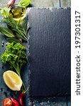 Food Background  With Herbs ...