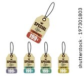 vintage style sale tags design... | Shutterstock . vector #197301803