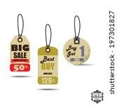 vector   vintage style sale... | Shutterstock .eps vector #197301827