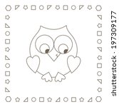 Owl. Cute Owlet. Coloring Page...