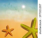beach starfish   Shutterstock .eps vector #197321207