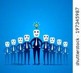 team member with sad facial... | Shutterstock .eps vector #197345987