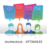 group of people with speech... | Shutterstock .eps vector #197360633