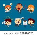 business character vector set | Shutterstock .eps vector #197376593