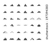 mountain icon set   vector... | Shutterstock .eps vector #197394383