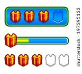 progress bar with red gift...