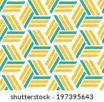 abstract retro pattern. vector... | Shutterstock .eps vector #197395643