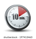 10 minutes timer | Shutterstock .eps vector #197413463