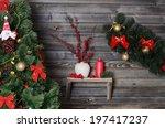 christmas branch of a fur tree...   Shutterstock . vector #197417237