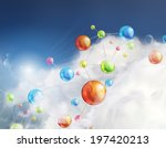 futuristic background with... | Shutterstock .eps vector #197420213