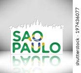 sao paulo brazil vector design... | Shutterstock .eps vector #197436077