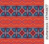 decorative seamless ethnic... | Shutterstock .eps vector #197443877